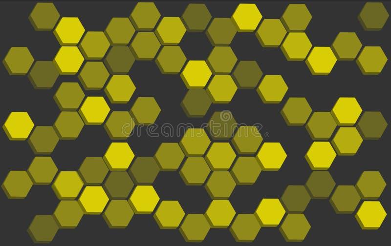 Abstract hexagon Bee hive background vector. Bee hive background banner vector EPS10 stock illustration