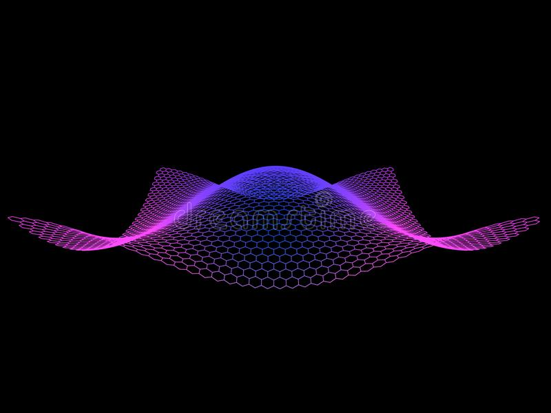 Abstract from hexagon color surface background. Technology concept.Big data. vector illustration. stock illustration