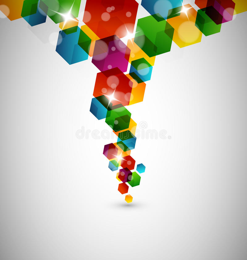 Abstract hexagon design royalty free illustration