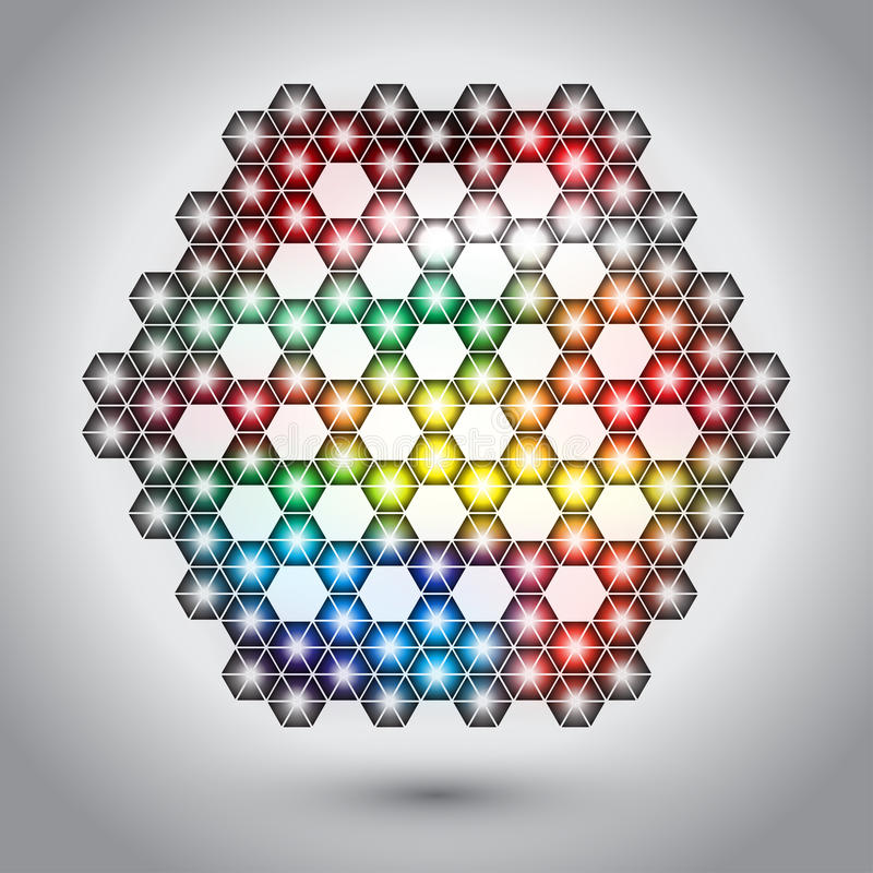 Free Abstract Hexagon Lights Stock Photography - 32999332