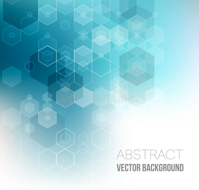 Abstract Hexagonal Background. Vector. Template design for science or technology presentation stock illustration