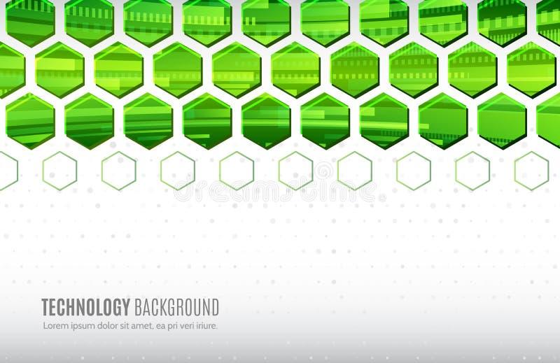 Abstract hexagonal geometric background. Business presentation for web design, banner stock illustration