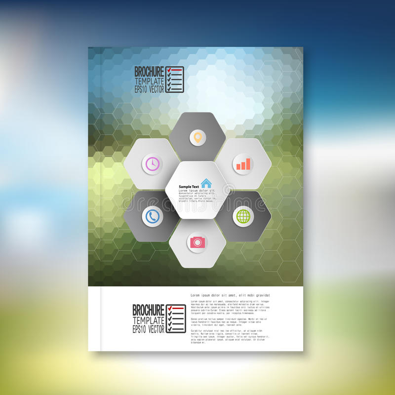 Abstract hexagonal infographic pattern. Brochure royalty free illustration