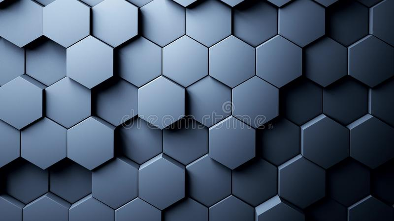 Abstract Hexagons Background vector illustration