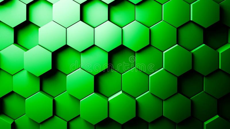 Abstract Hexagons Background royalty free illustration