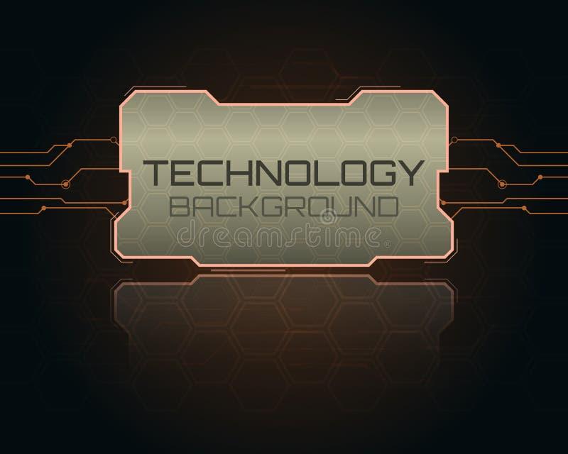 Abstract hi-fi digital futuristic frame. Vector illustration. stock illustration