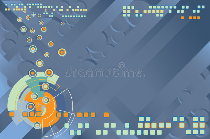 Abstract hi-tech background. Abstract techno background green blue vector illustration