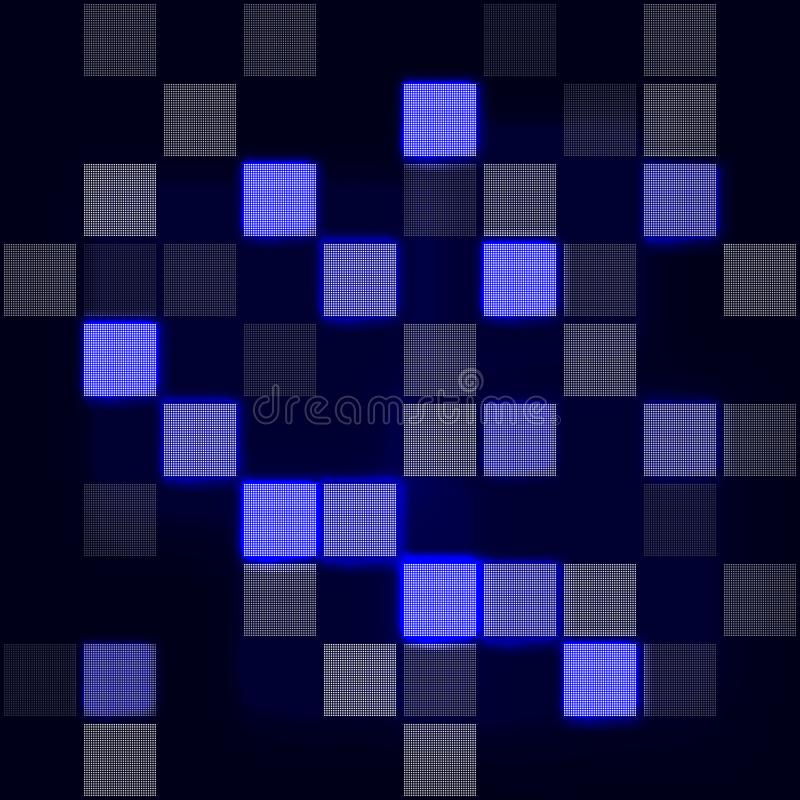 Abstract hi-tech blue background. Futuristic digital technology background. Vector Illustration vector illustration