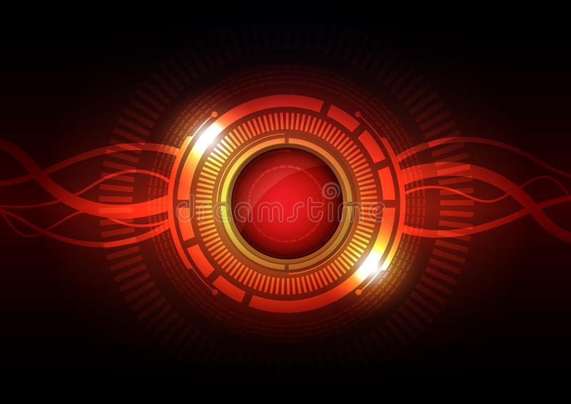 Download Abstract hi-tech button stock vector. Image of button - 26871358