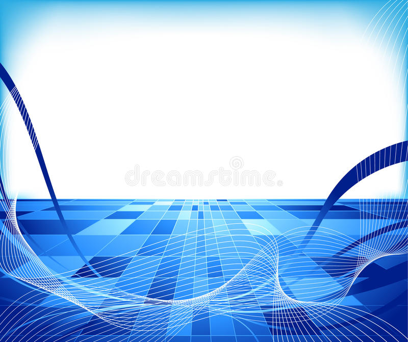 Abstract hi-tech concept - lined vector illustration