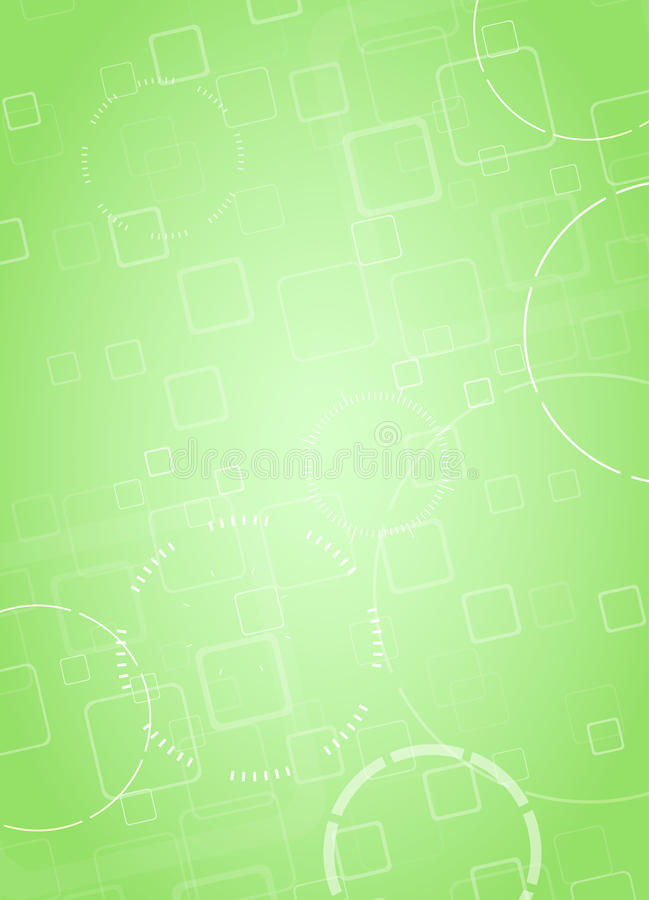 Abstract Hi-tech Green Background. Vector Stock Illustration