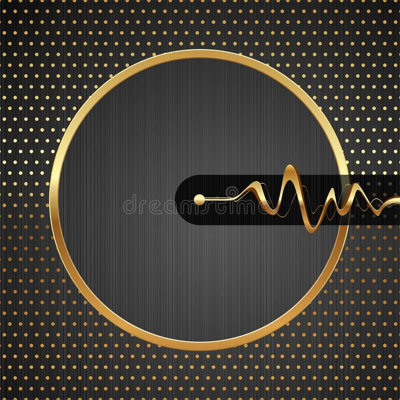 Download Abstract Hi-tech Illustration With Golden Frame Stock Photos - Image: 18637963