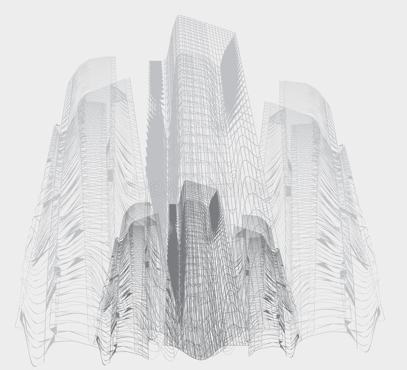 Abstract high buildings stock illustration