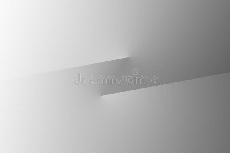 Abstract, high tech, 3d simplistic background stock illustration