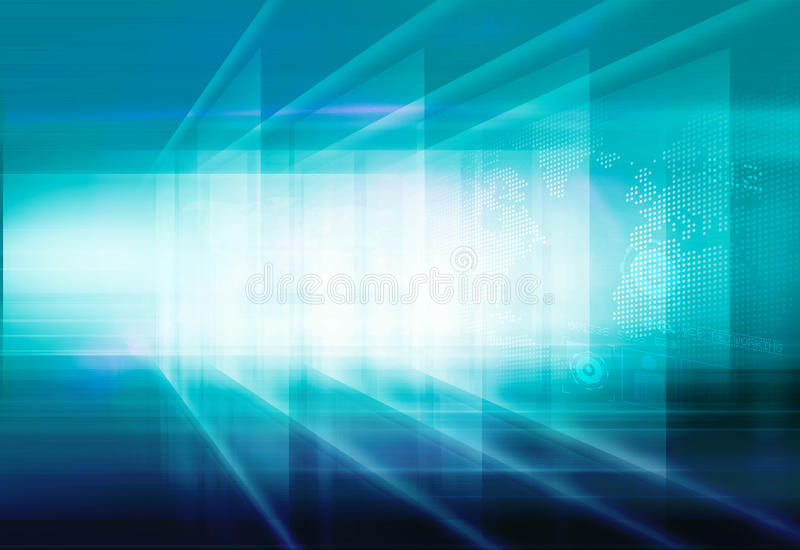 Abstract High Tech 3D Space Background Concept Series 107. Abstract High Tech 3D Space, Digital Flat Screen Technology Background. 3d Illustration stock illustration