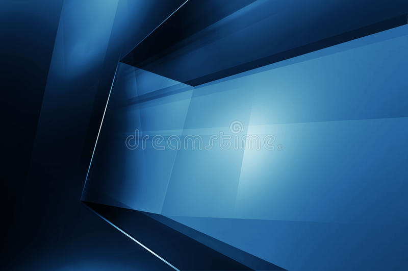Abstract High Tech 3D Space, Digital Technology Background stock illustration