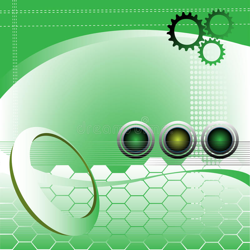 Abstract high tech design stock image
