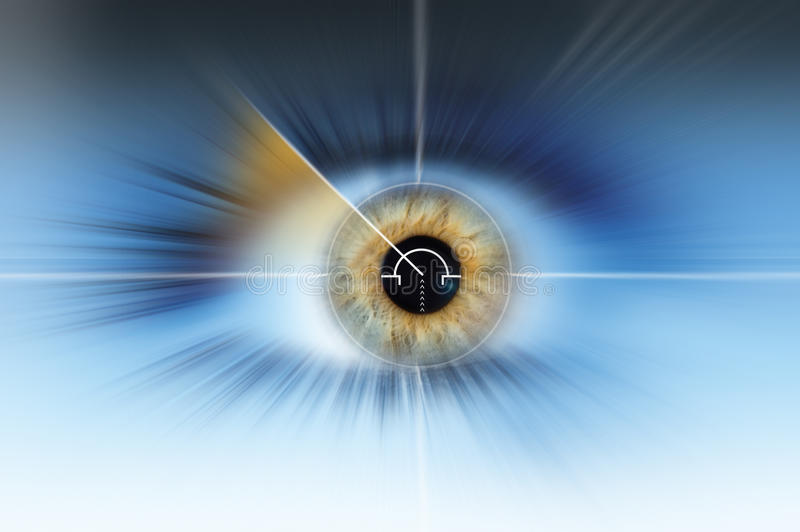 Abstract high tech eye background stock image
