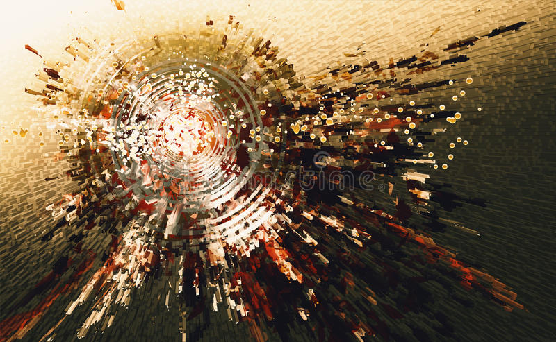 Abstract high technology circle background stock illustration
