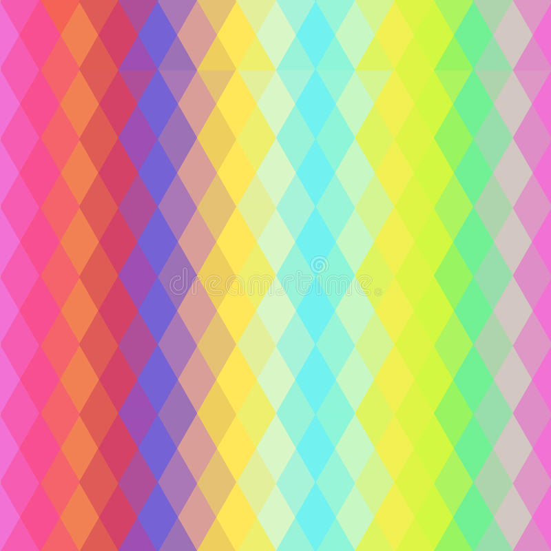 Abstract hipsters naadloos patroon met heldere gekleurde ruit Geometrische Achtergrond Vector royalty-vrije illustratie