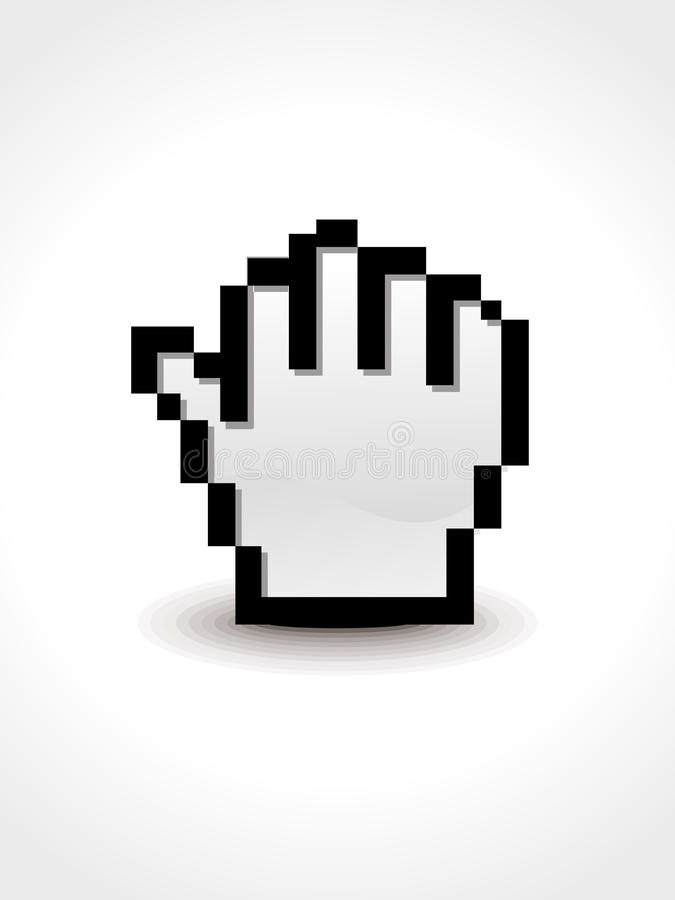 Download Abstract hold hand cursor stock vector. Image of icon - 31804628