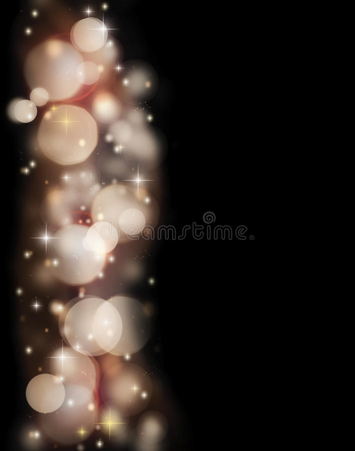 Download Abstract Holiday Border Of Glowing Bokeh Lights Stock Illustration - Illustration: 22288589