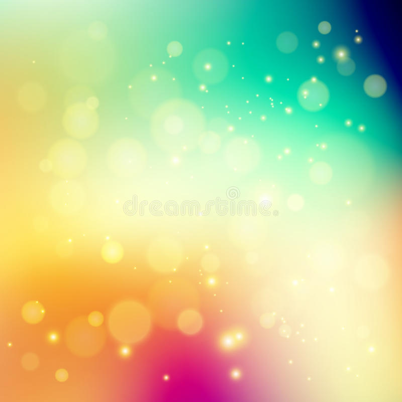 Abstract holiday light background with bokeh stock illustration