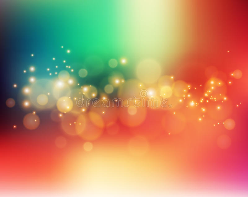 Abstract holiday light background with bokeh vector illustration