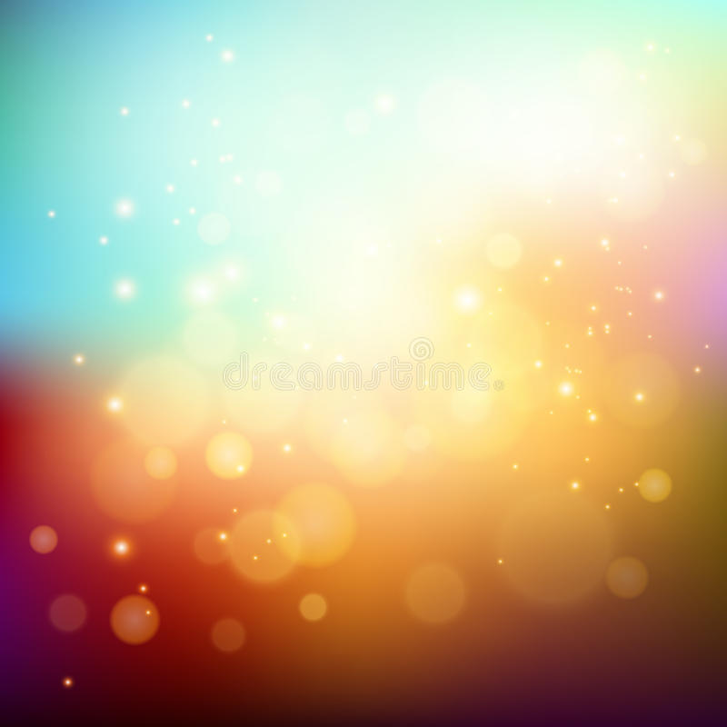 Abstract holiday light background with bokeh royalty free illustration