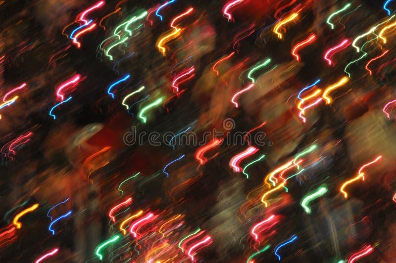 Abstract Holiday Lights stock image