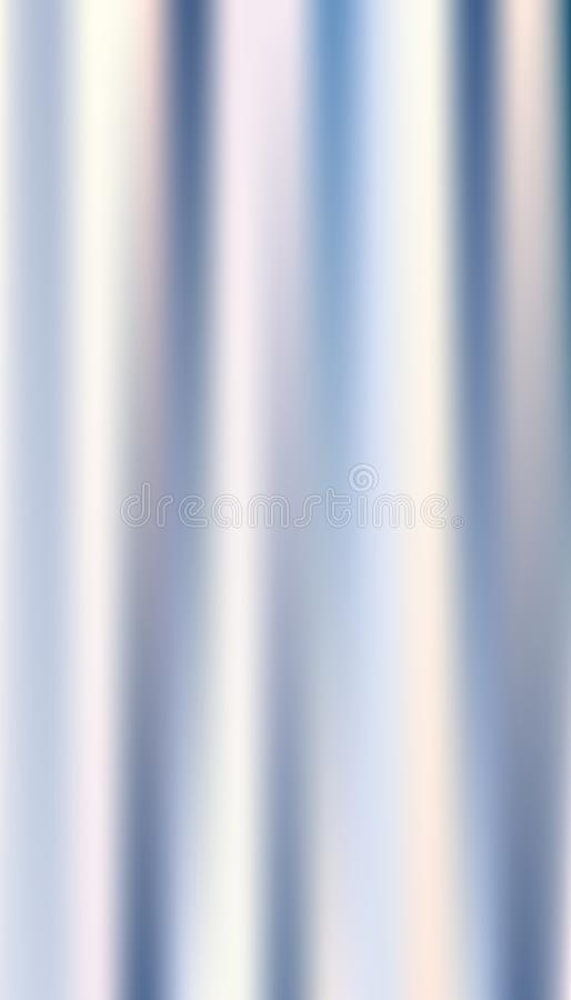 Beautiful Abstract Holographic Foil, Gradient Color Silver Metal Theme, Blur silver image, Template, Background, Texture. Vector Illustration royalty free illustration