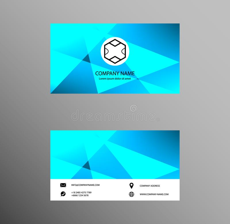Set of Business Card Design, Pale Blue color, Contact card for company, Banners and Infographic. Abstract Modern Geometric Backgr vector illustration