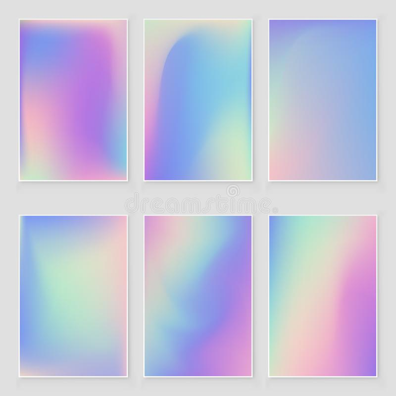 Free Abstract Holographic Iridescent Foil Texture Set. Modern Style Stock Photography - 147565802