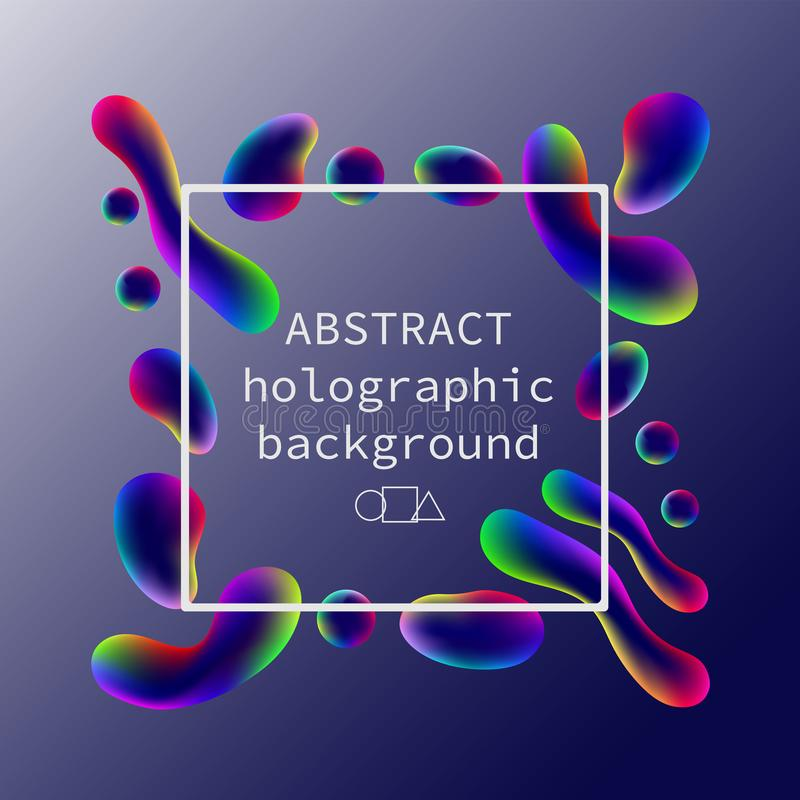 Abstract Holographic Neon Bright Pattern On A Gradient Background ...