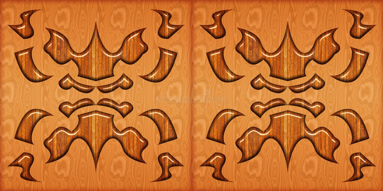Abstract home decorative art oil paint wall tiles pattern design background. Wooden tile pattern.. Abstract home decorative art oil paint wall tiles pattern royalty free illustration