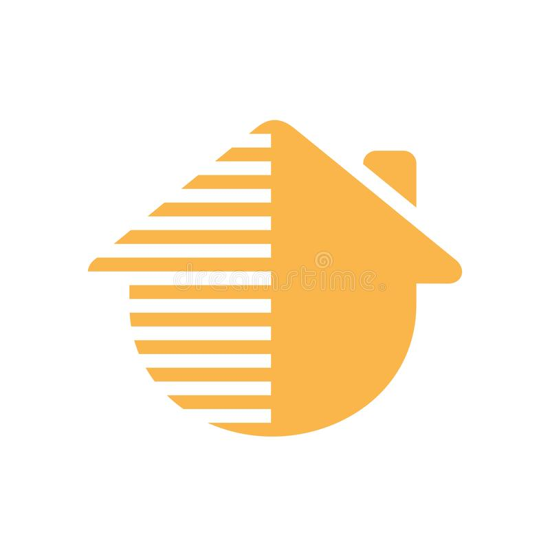 Abstract home or house logo, creative real estate renover icon - Vector stock illustration