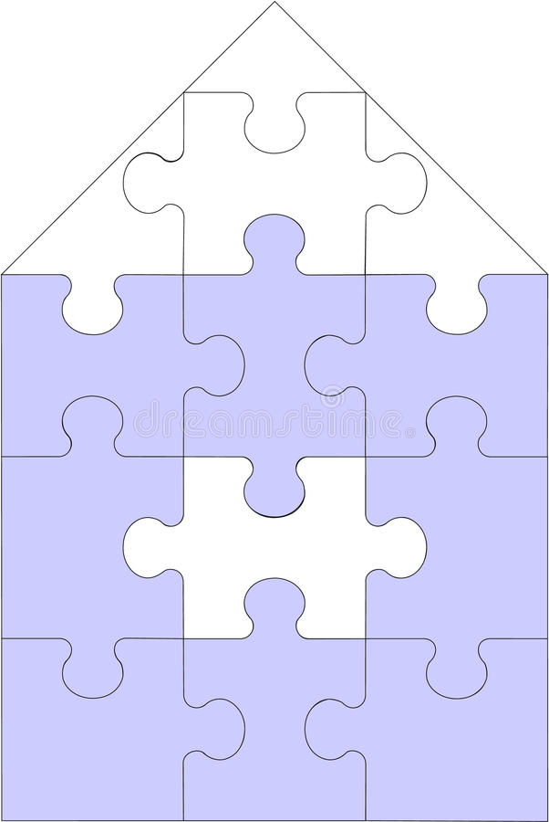 Free Abstract Home Puzzle In Color 11 Royalty Free Stock Photos - 11535888