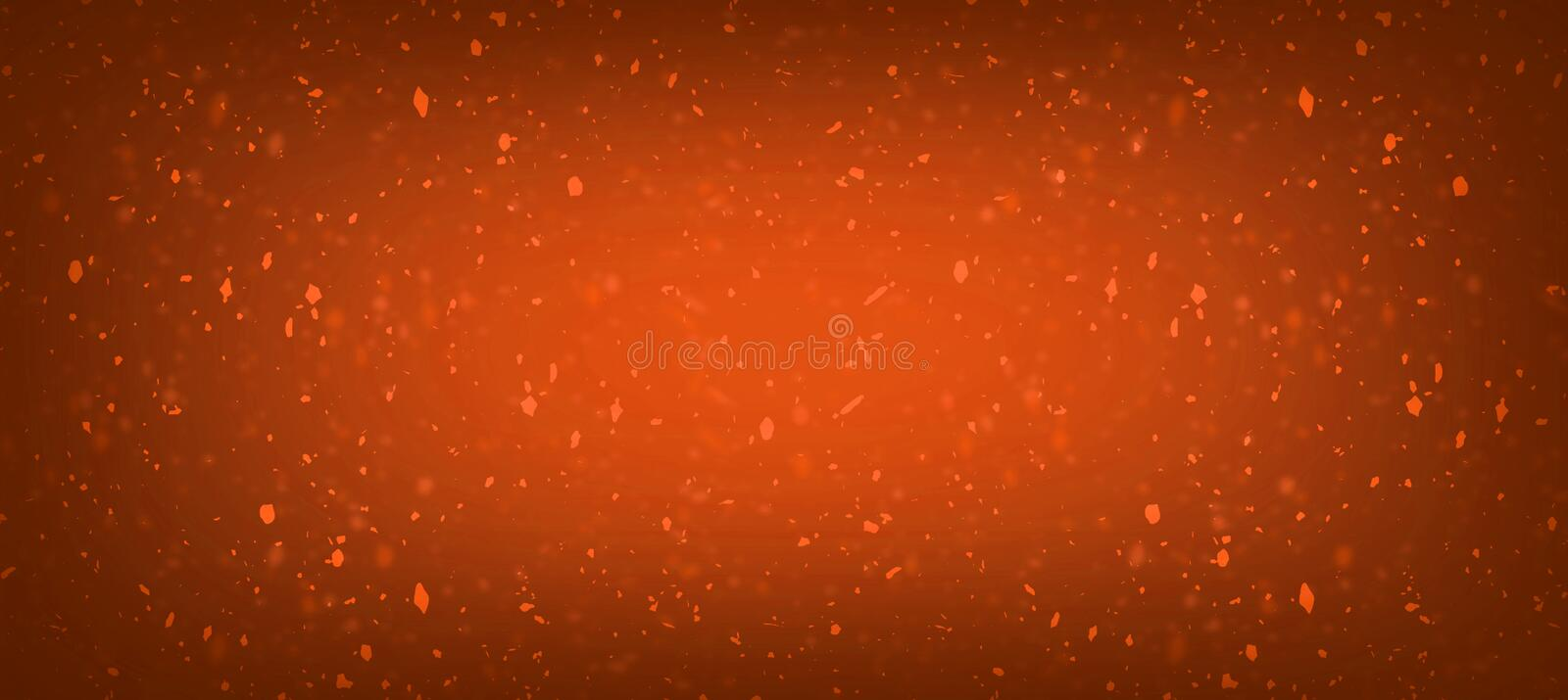 Abstract honey orange blur glitter confetti golden bokeh splash lights with sparkle dust composition background for celebration, p vector illustration