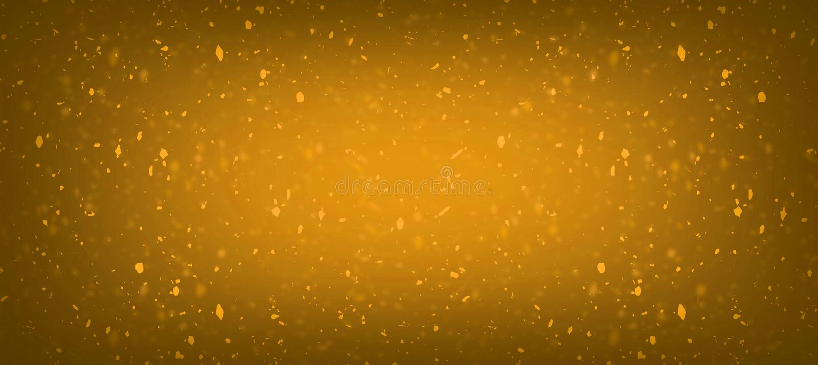 Abstract honey orange blur glitter confetti golden bokeh splash lights with sparkle dust composition background for celebration, p royalty free stock photos