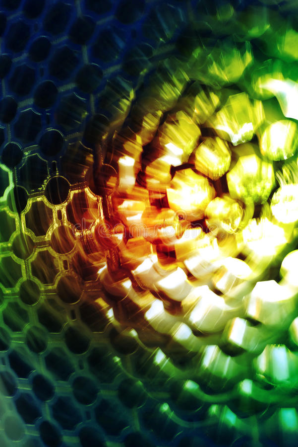 Abstract Honeycomb. An abstract honeycomb structure shot by rotating the camera stock photo