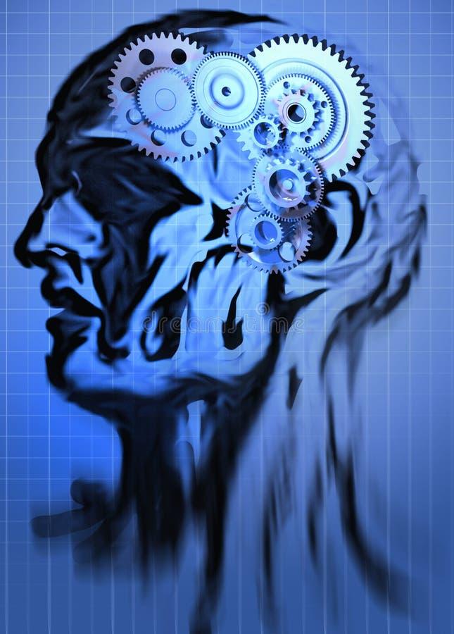Abstract hoofd royalty-vrije illustratie