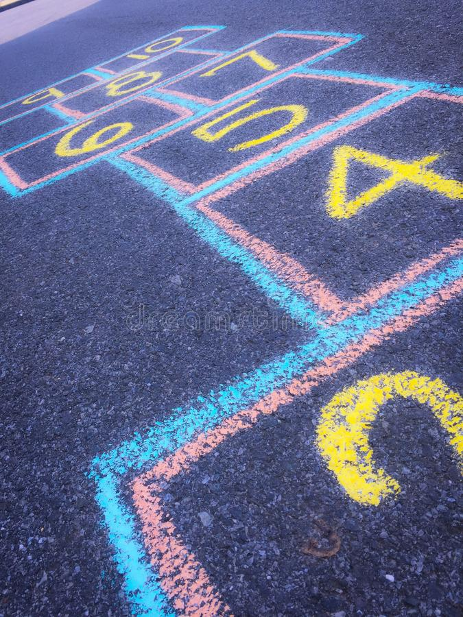 Abstract Hopscotch royalty free stock photography