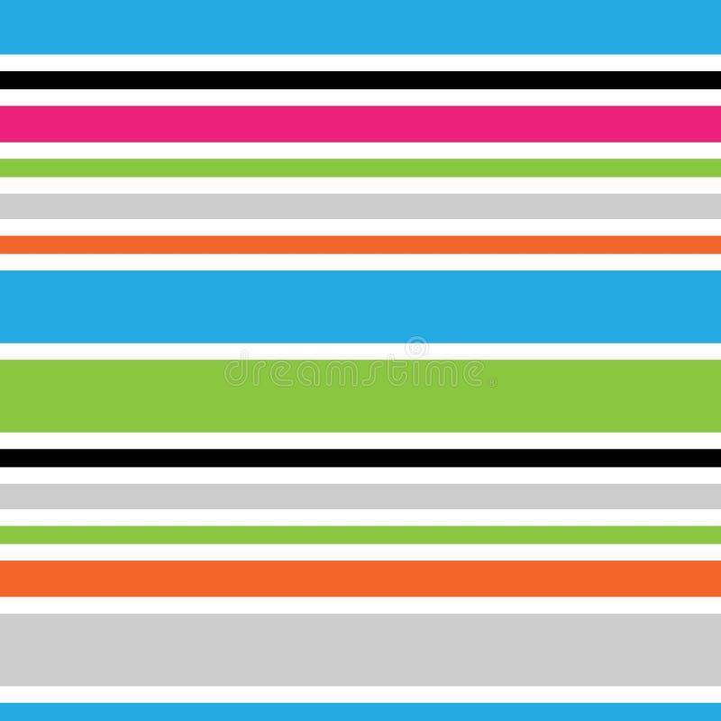 Abstract horizontaal gestreept naadloos patroon Trillende gekleurde achtergrond Verpakkend document Patroon voor binnenland, stof royalty-vrije illustratie