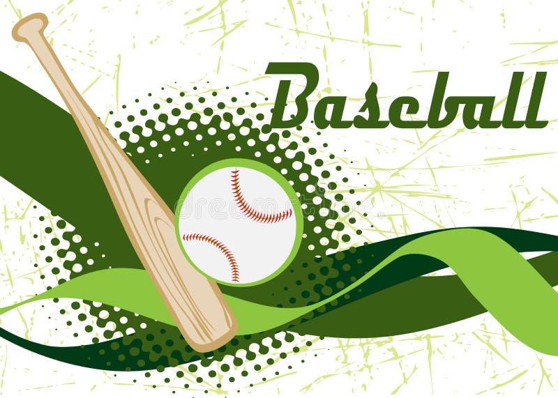 Abstract horizontal baseball banner stock illustration