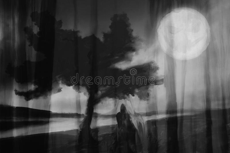 Excellent Abstract horror background stock illustration. Illustration of  QF91