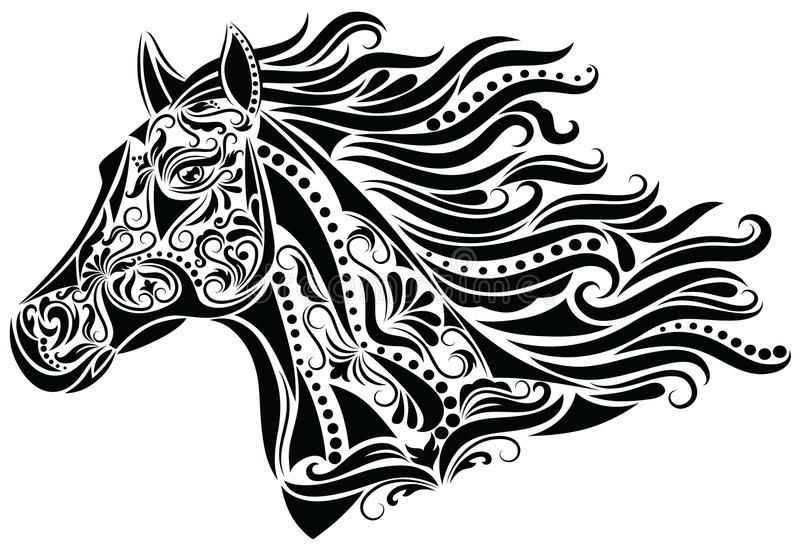 Abstract horse. Pattern in a shape of a horse