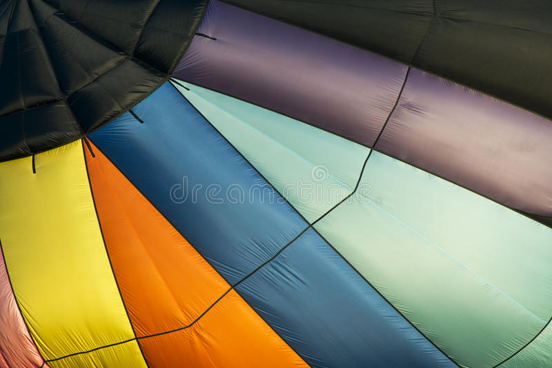 Abstract Hot Air Balloon Background, Colors. Colors from a hot air balloon make for a unique abstract background stock photos