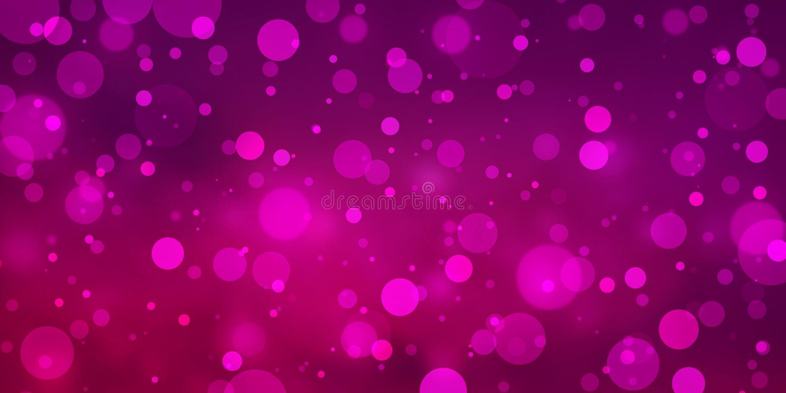 Abstract hot pink and red glitter background with white bokeh lights or circle shapes on blurred purple violet and red stock photography