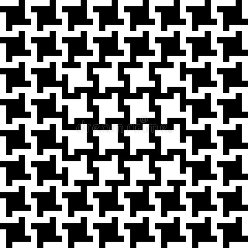 Abstract Houndstooth Pattern stock image