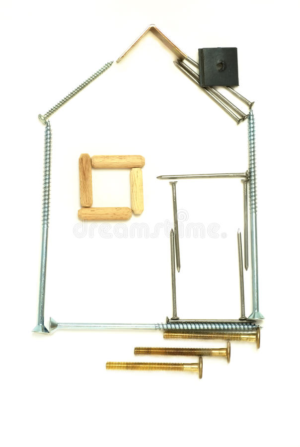 Abstract house. stock images